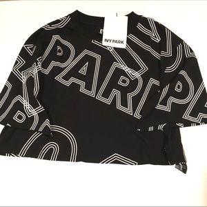 IVY PARK crop top black & white size medium